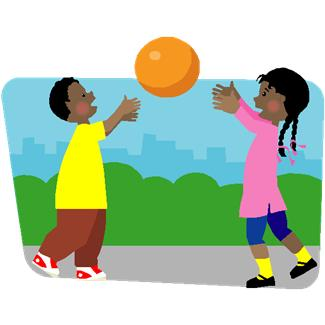 Playing . Outside clipart free
