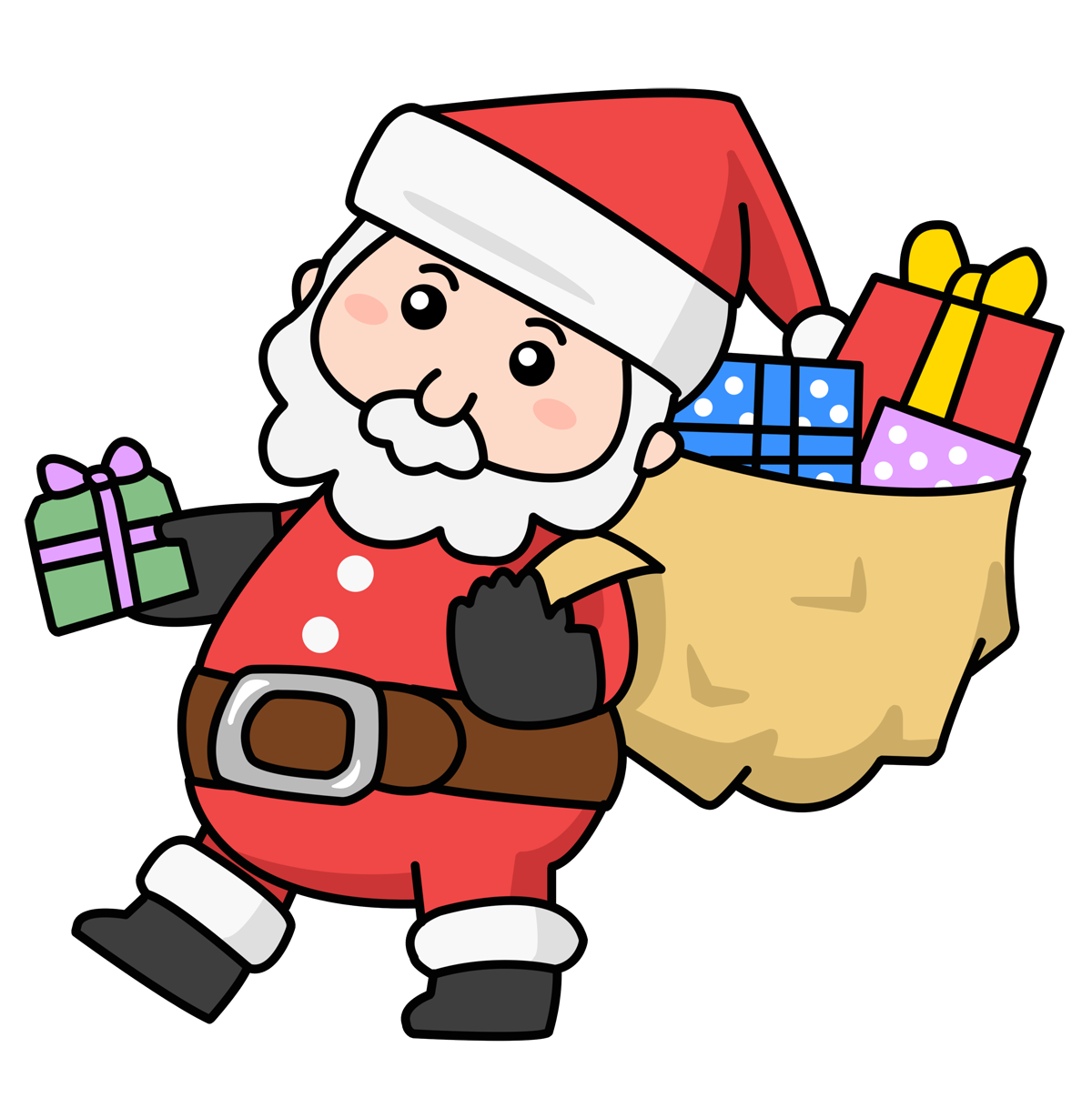 Santa clipart easy. Free waterspout cliparts outside
