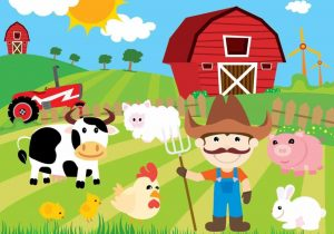 Farmhouse arch dsgn cow. Outside clipart farm scene image free