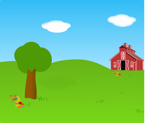 Background clip art at. Outside clipart farm scene image transparent library