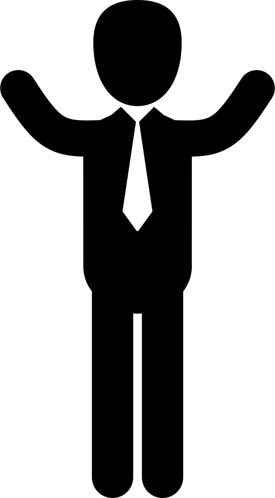 Outstretched arms png. Businessman with svg icon