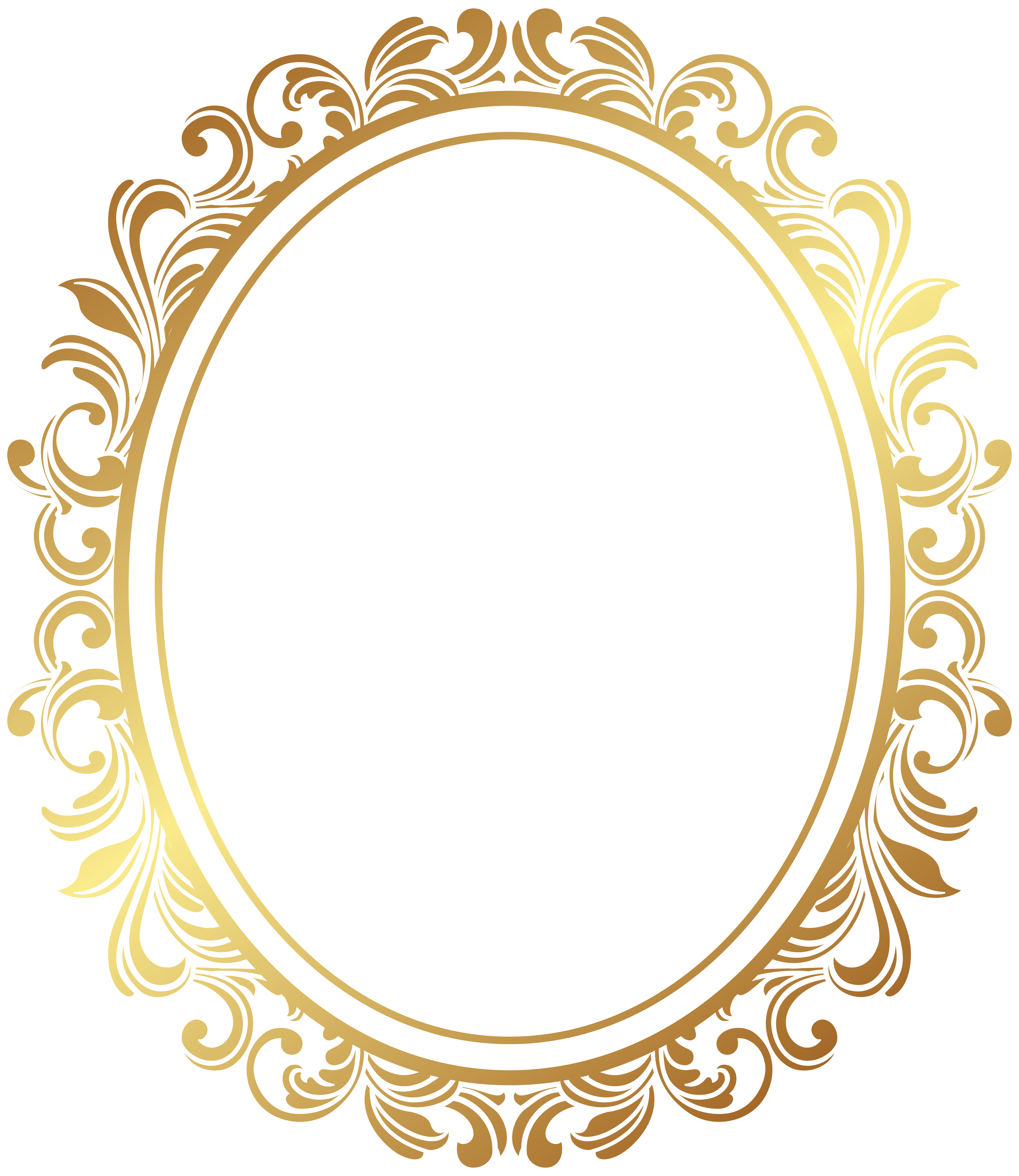 Oval frame png. Picture border deco clip