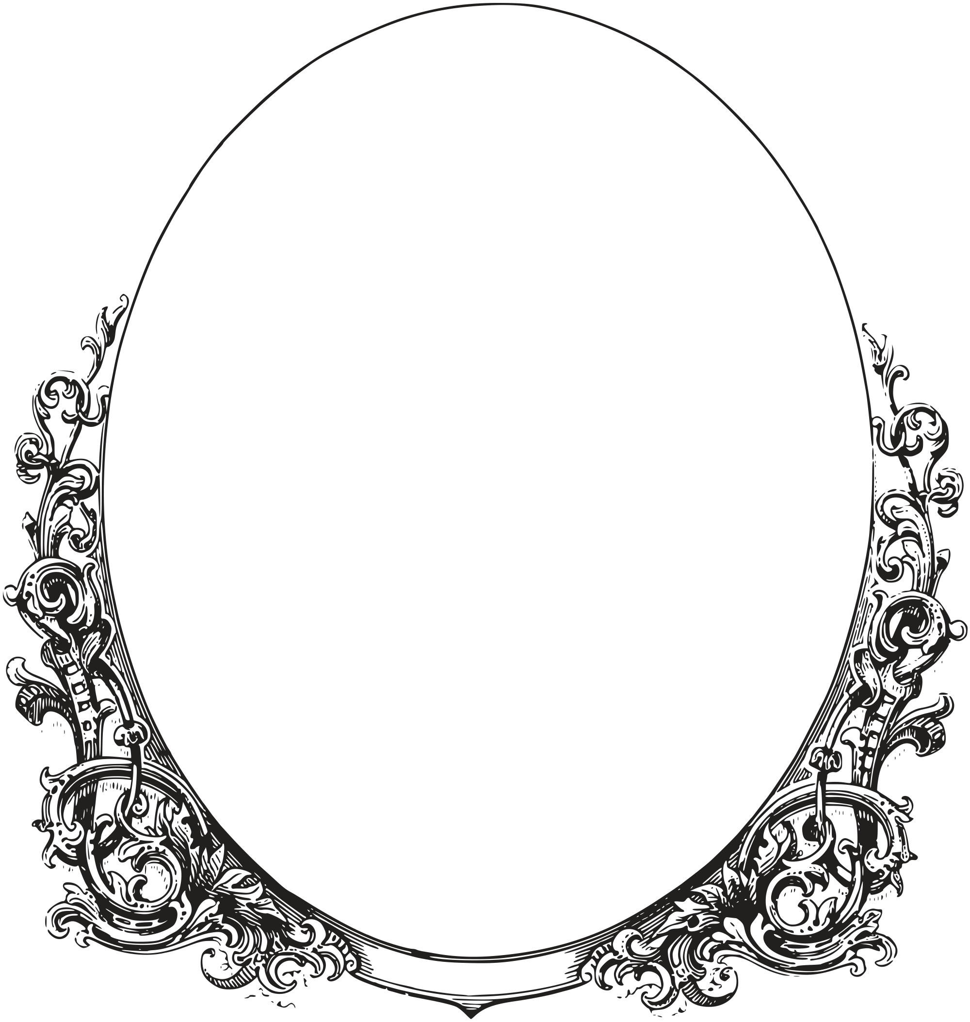 Swoop vector oval. Royalty free images ornate