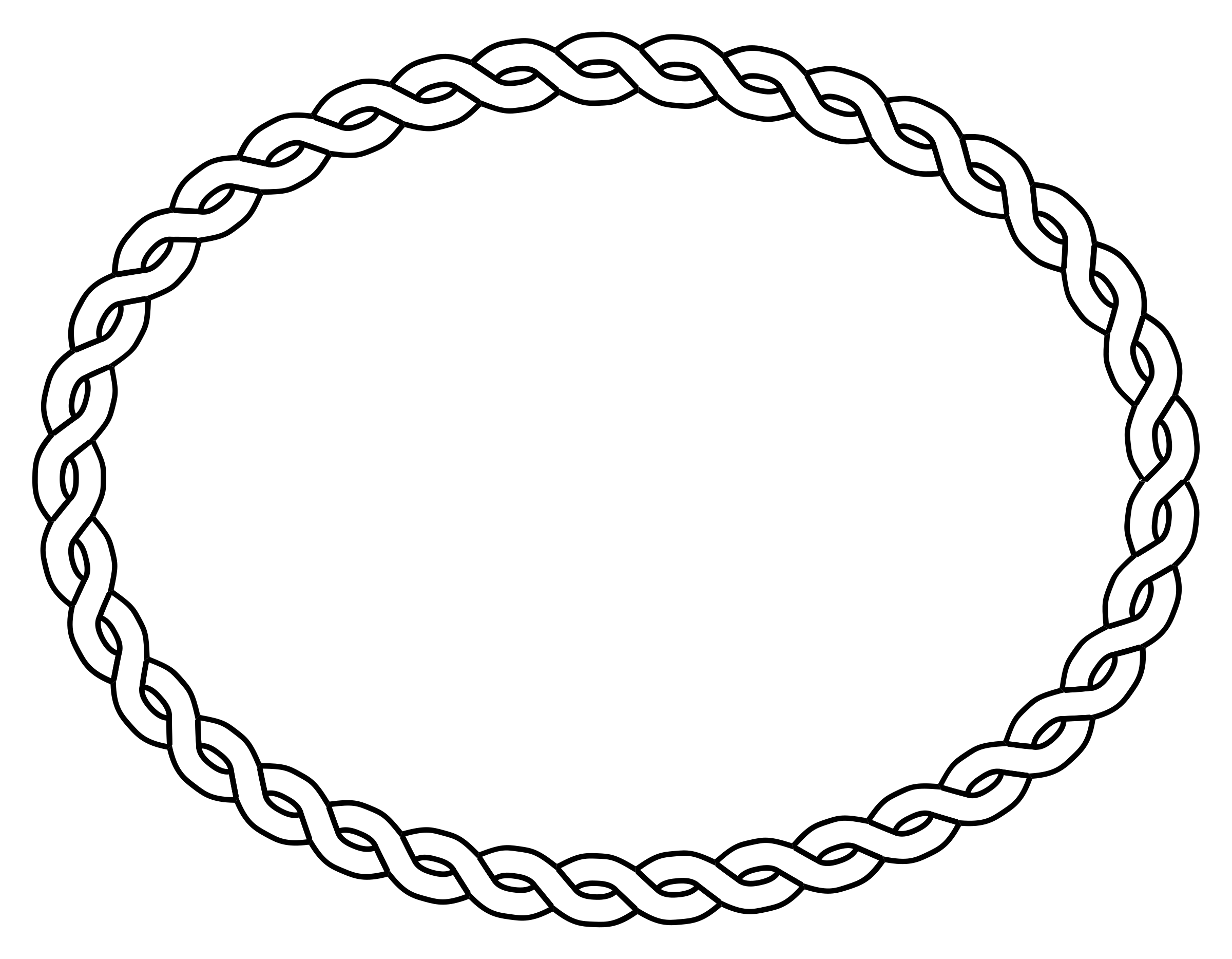 Oval borders png. Rope border icons free