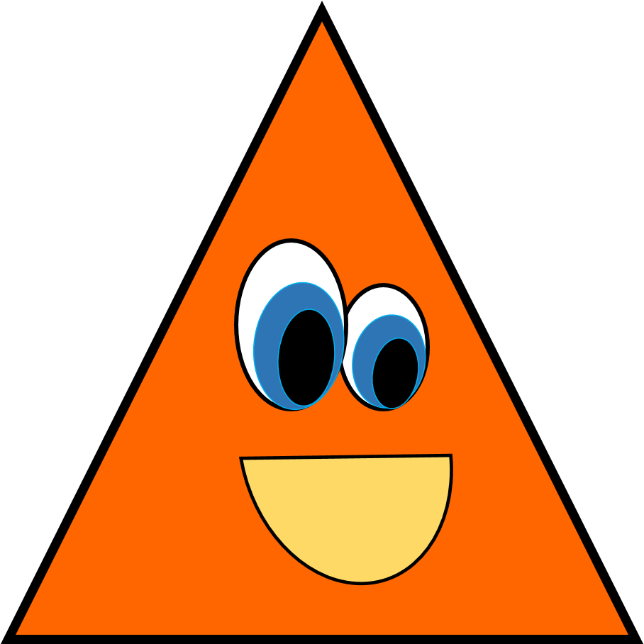 Shapes group with items. Triangular clipart banner library