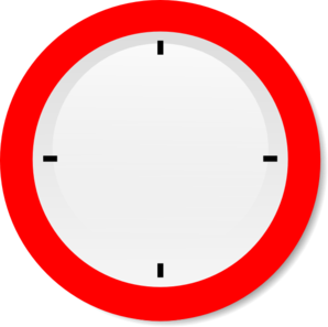 Oval clipart clock. No hands modern clip
