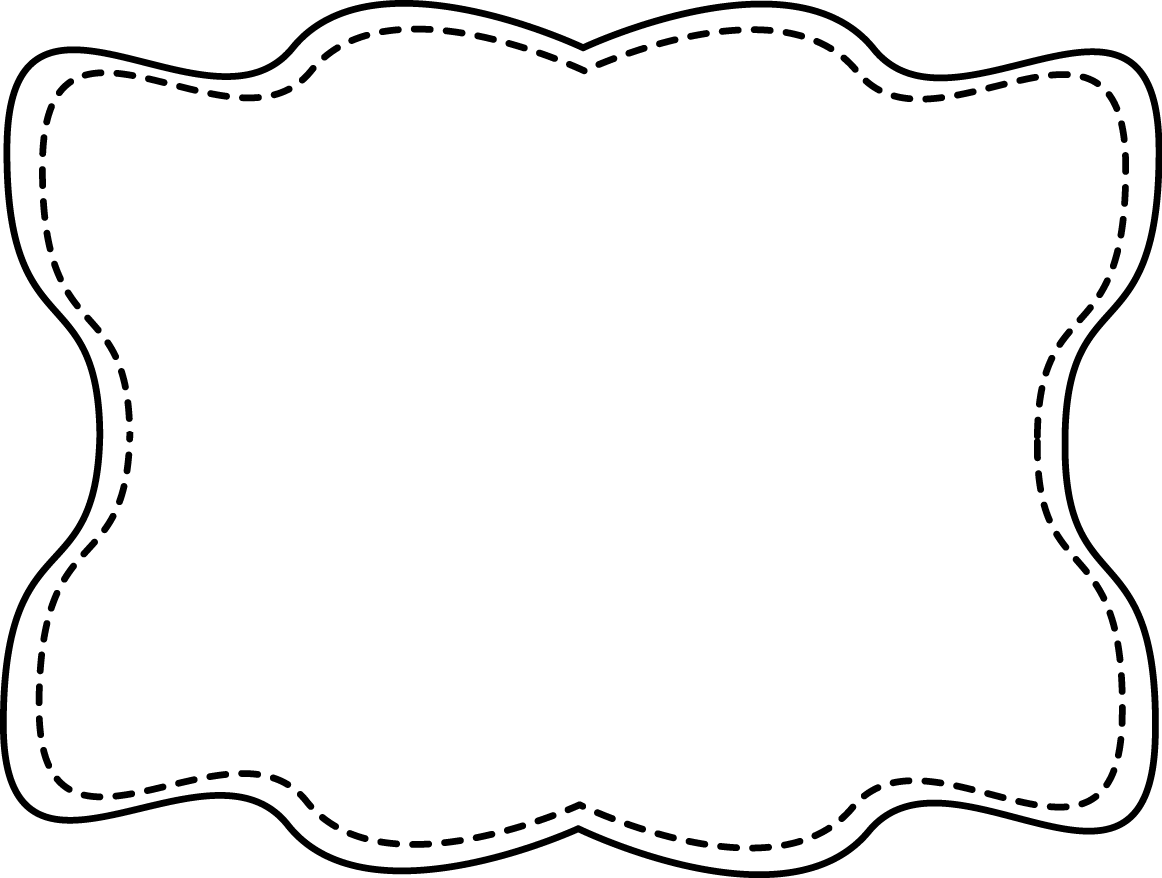 Oval clipart cute. Black and white frame