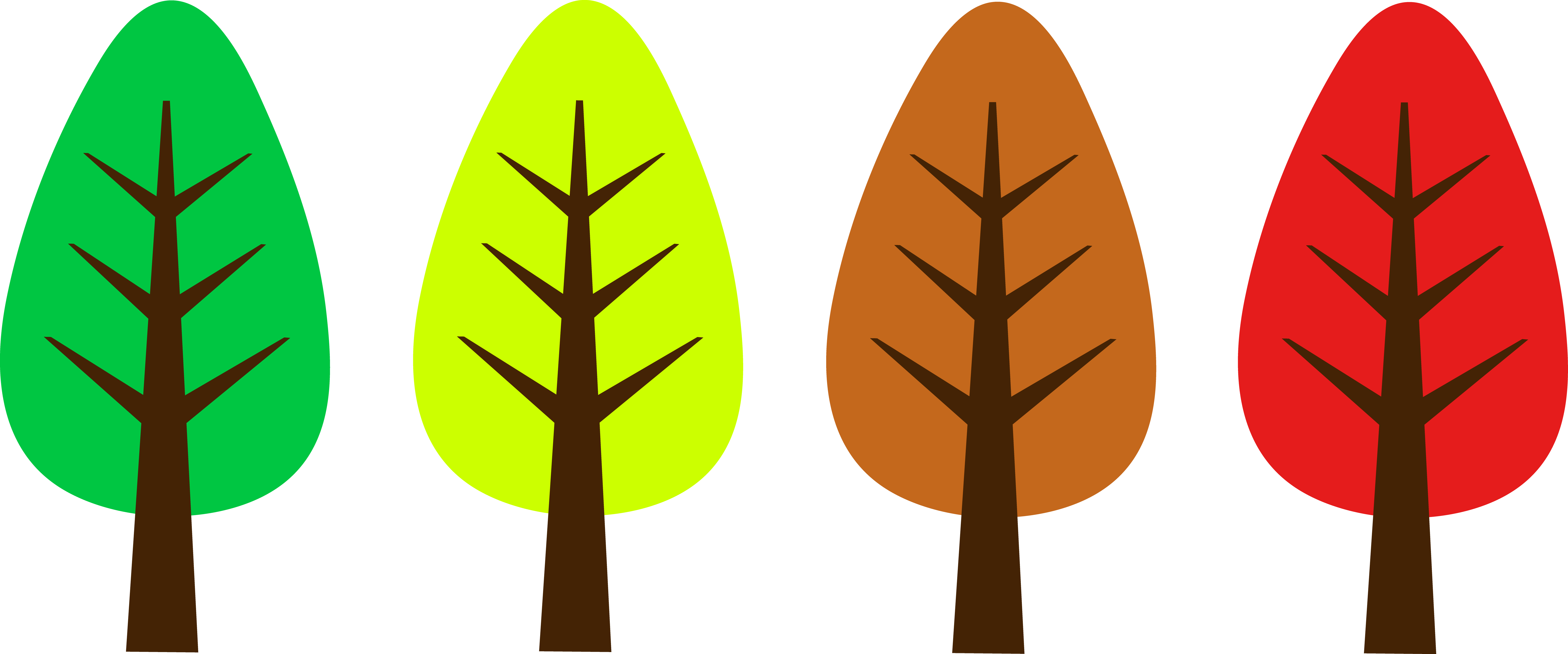 Oval clipart simple. Free cute trees cliparts