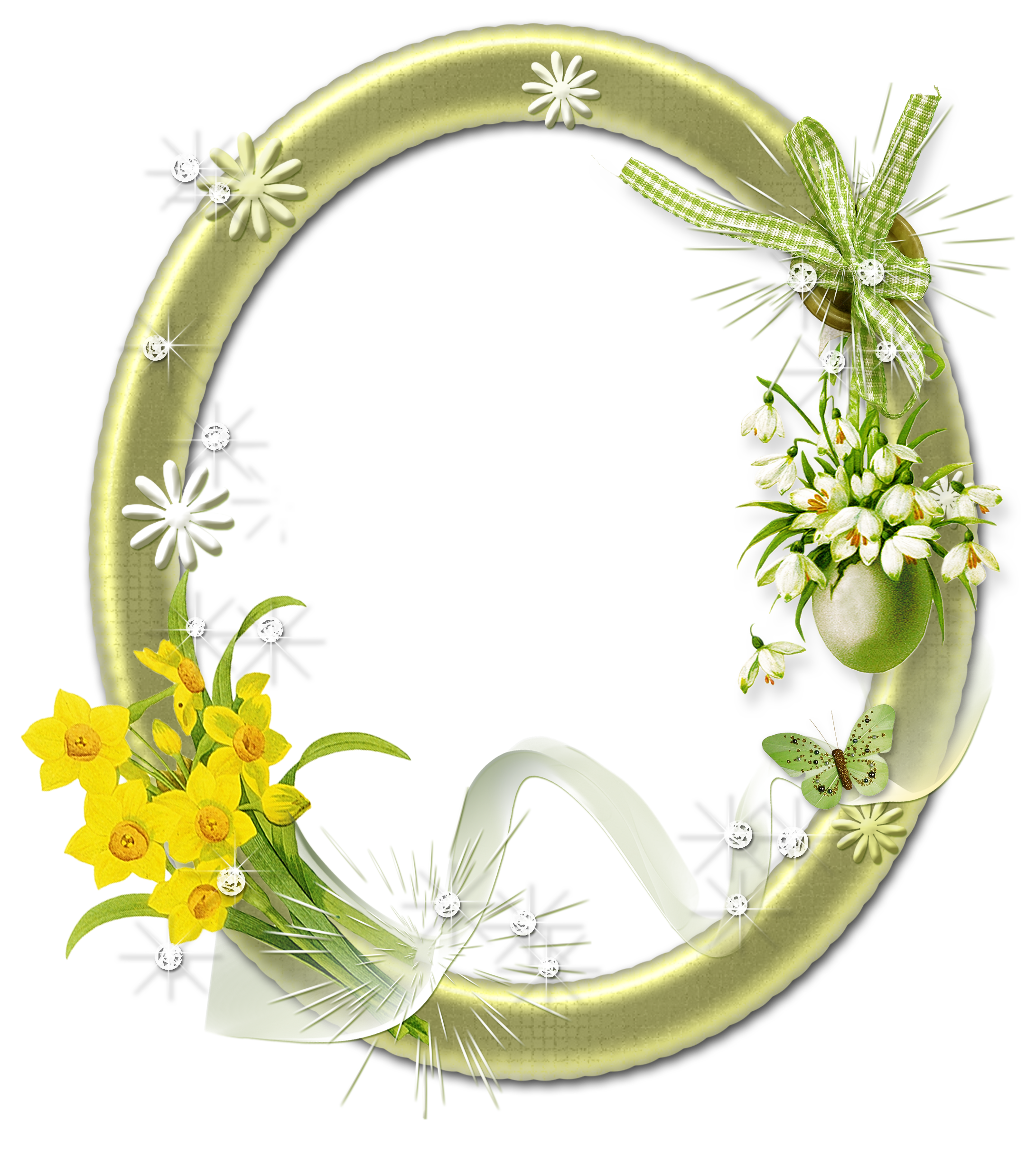 oval picture frame png