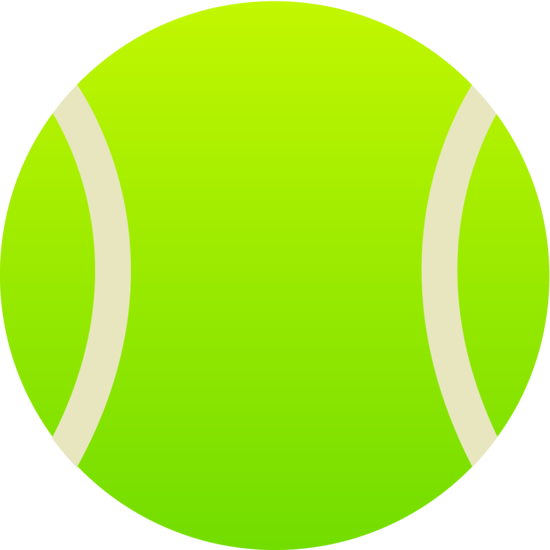 Drawing sports tennis. Simple green ball free