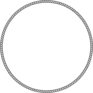 Oval drawing rope. Ring clip art at