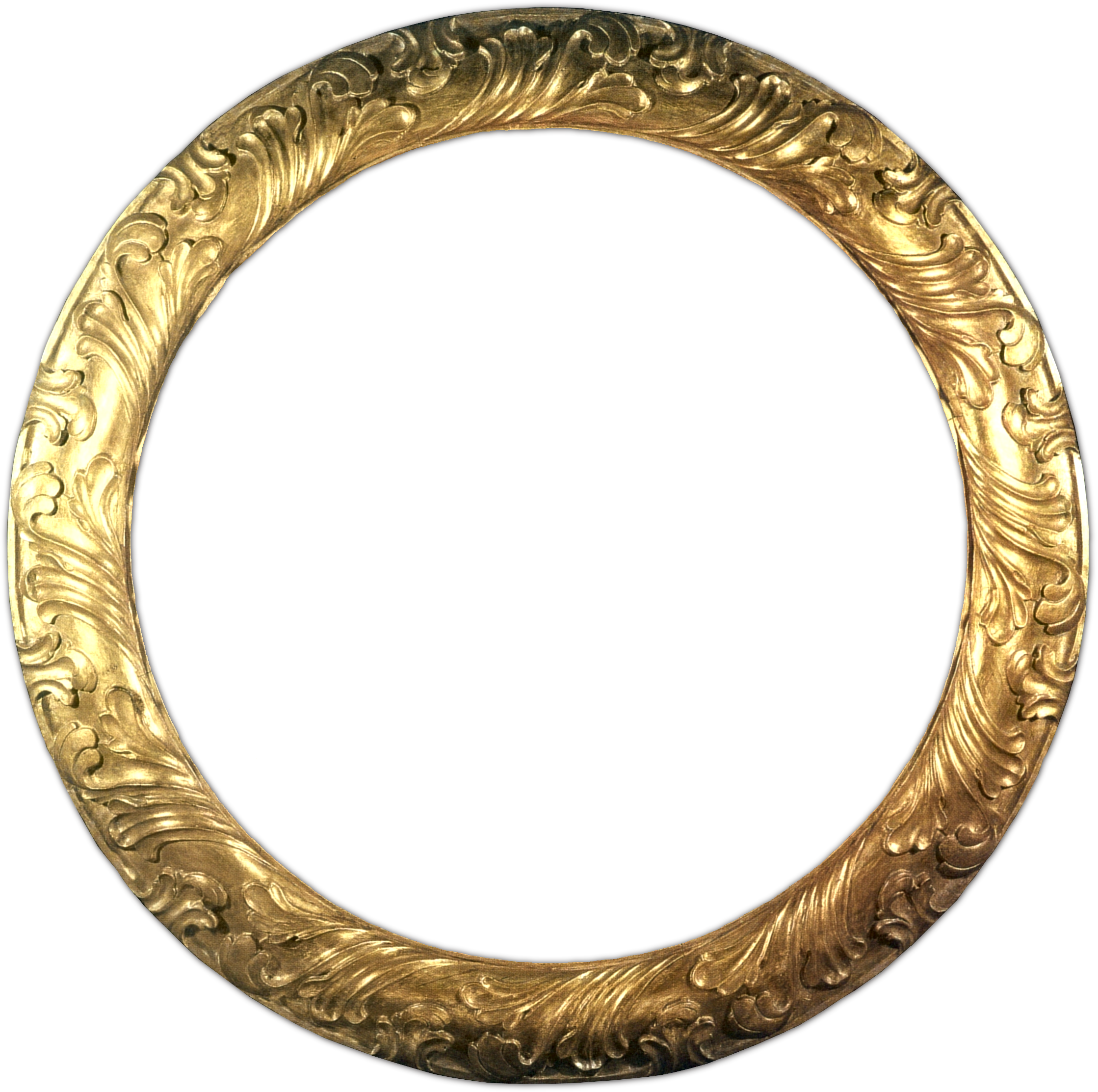 Oval gold frame png. Circle no mat borders