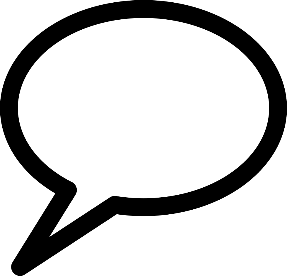 Oval outline png. Comment speech bubble of