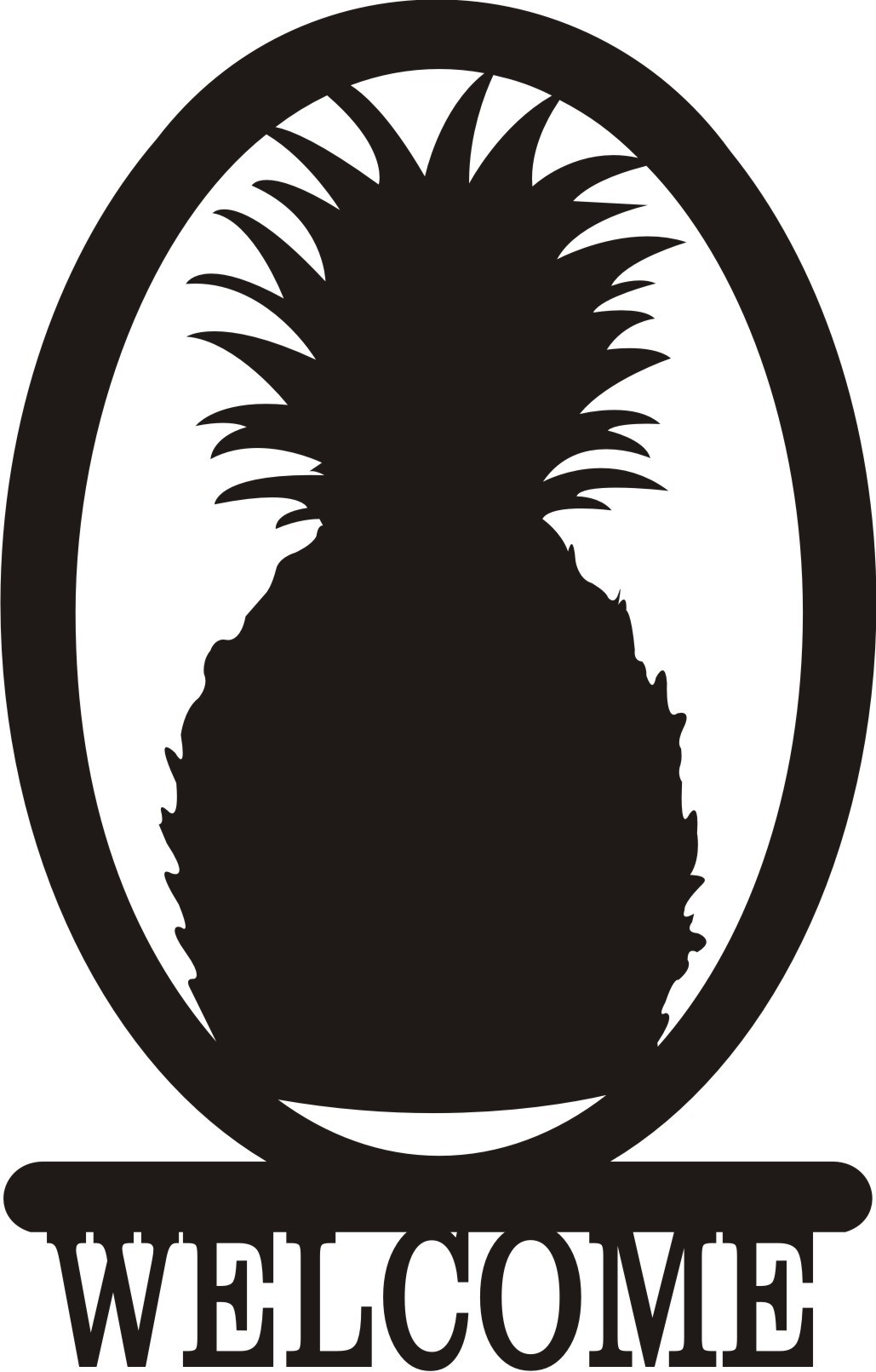 Oval pineapple. Welcome clipart panda free