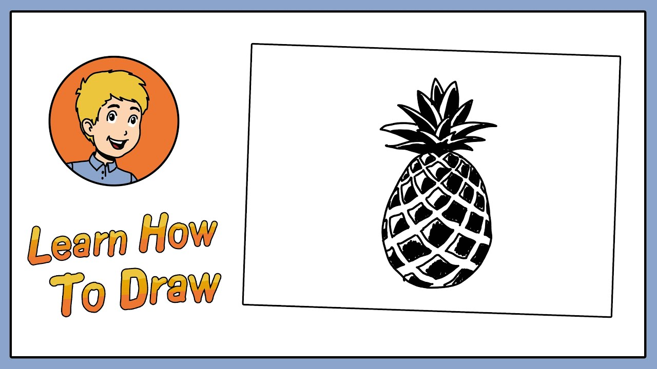 Oval pineapple. How to draw a