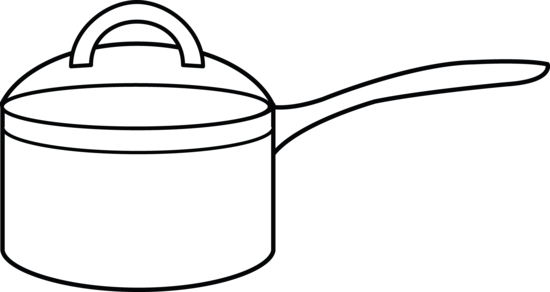Chair clip colouring page. Cooking pot coloring free