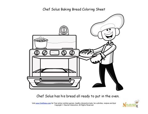 Chef solus bakes fresh. Oven clipart coloring page clip art library stock