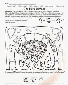 The fiery furnace pages. Oven clipart coloring page banner freeuse download