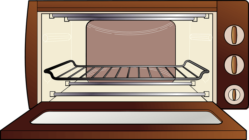 Oven vector vintage. Microwave ovens and emr