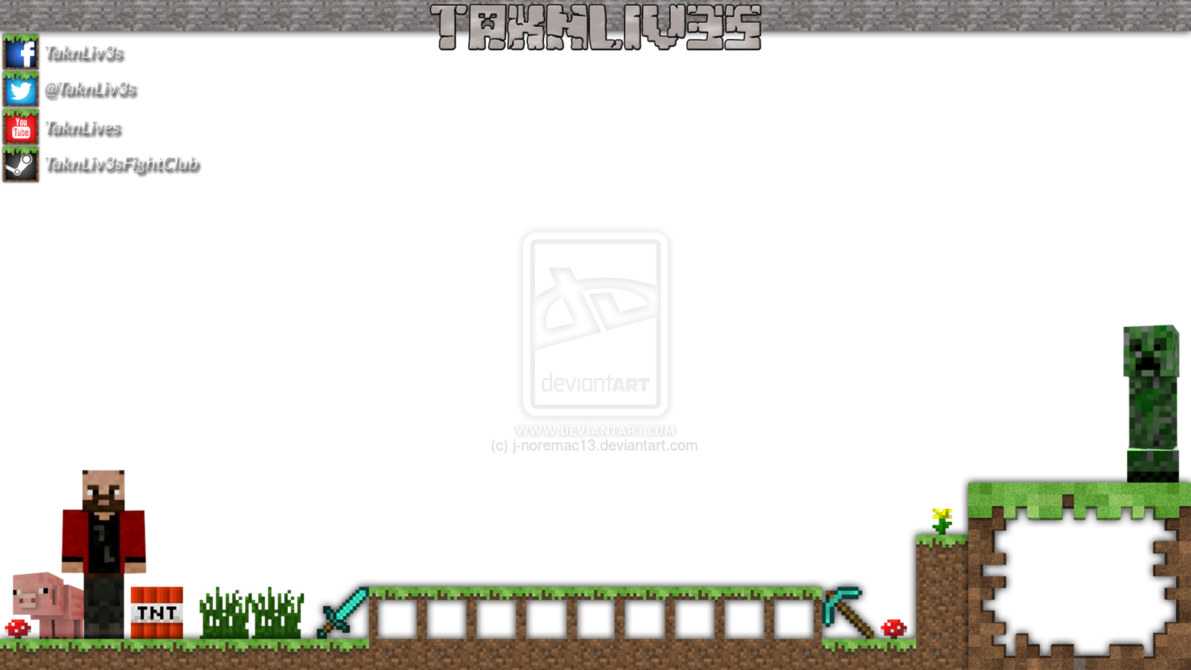 Overlay template png. Minecraft twitch stuff to
