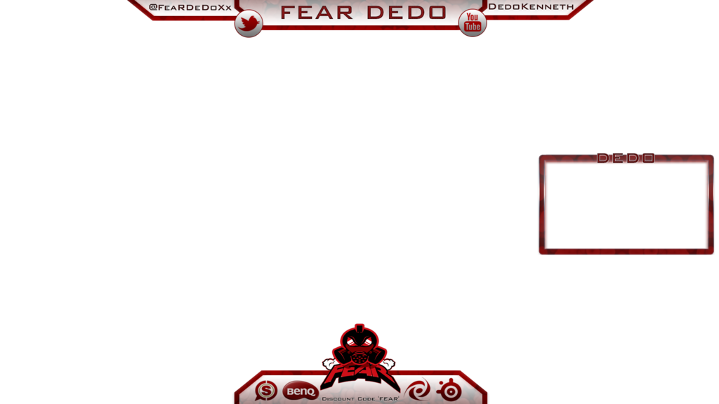 Overlay template png. Twitch youtube pinterest and