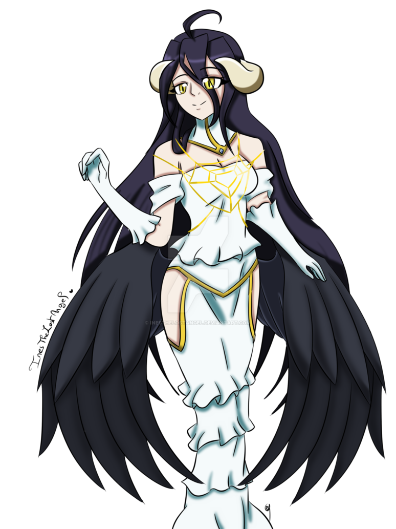 Overlord anime png. Albedo by inesthelostangel on