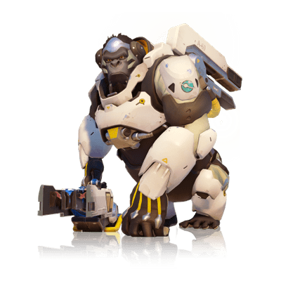 Overwatch bastion png. Transparent stickpng winston full