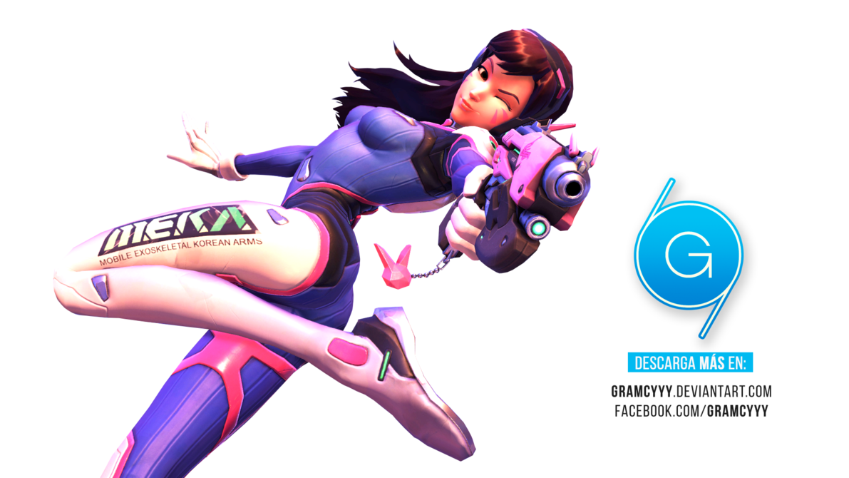 Transparent dva overwatch. Render by gramcyyy on
