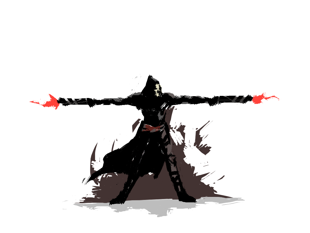 Overwatch gif png. Reaper mini by kermithermit