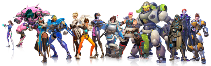 Overwatch heroes png. The women of celebrating