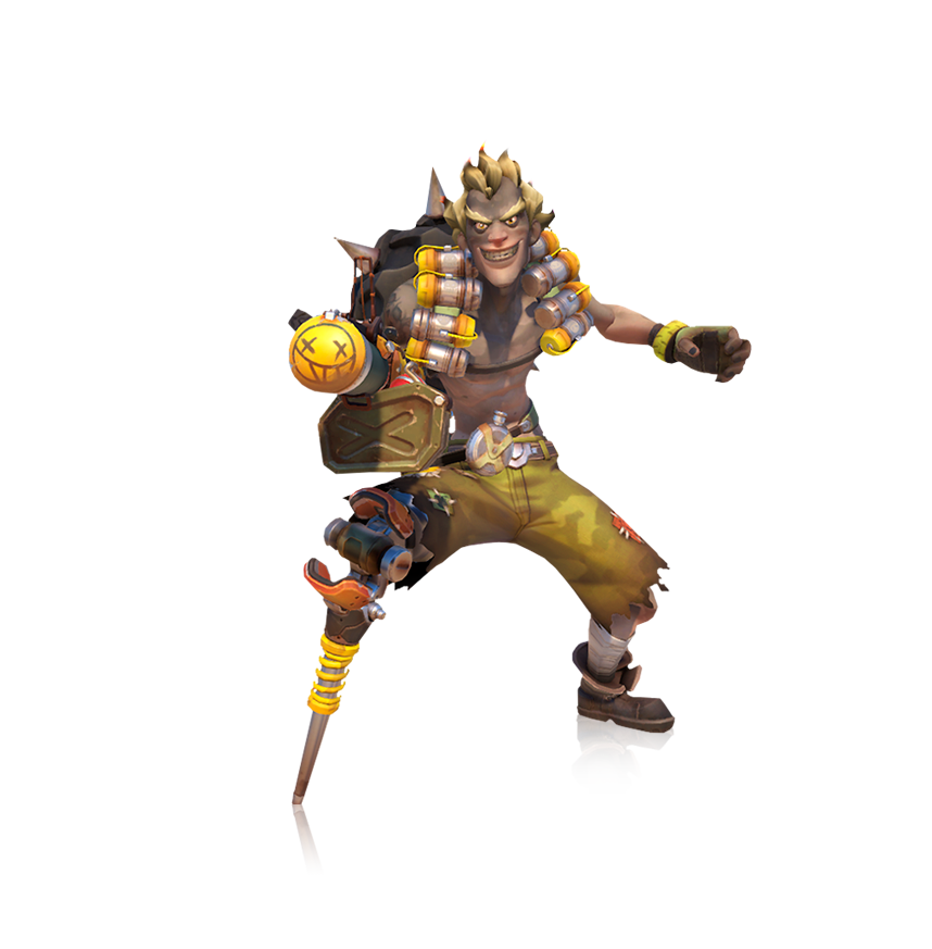 Overwatch junkrat png. Render by popokupingupop on