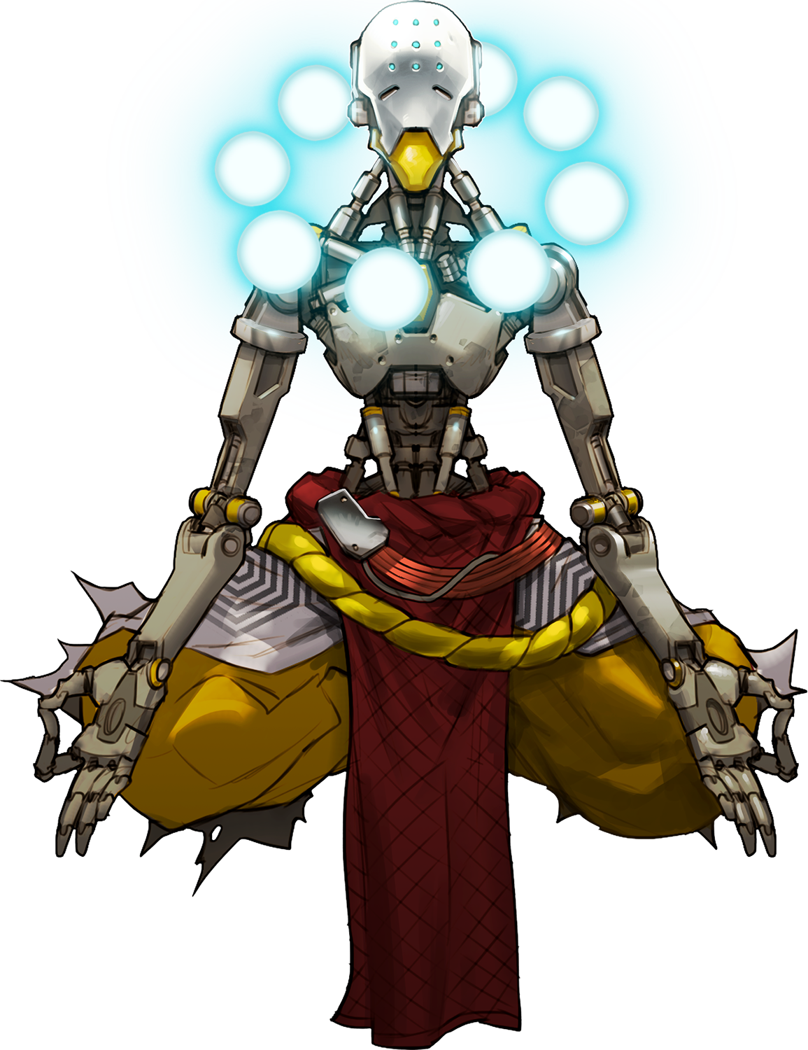 Bastion drawing zenyatta. Orb of discord overwatch