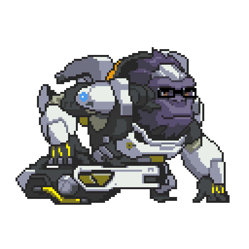 Winston transparent animated. Image pixel png overwatch