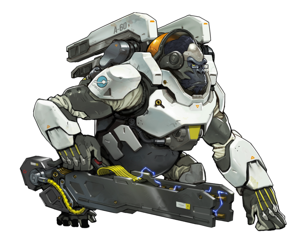Overwatch by plank on. Winston png vector freeuse stock