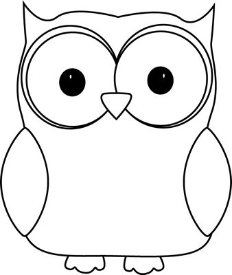 Clipart black and white. Owl clip art clip freeuse