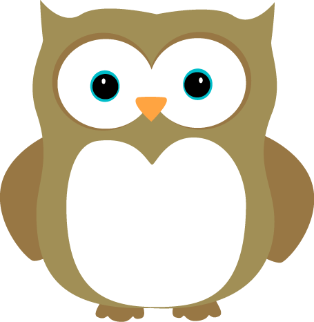Owl clip art cartoon. Images brown