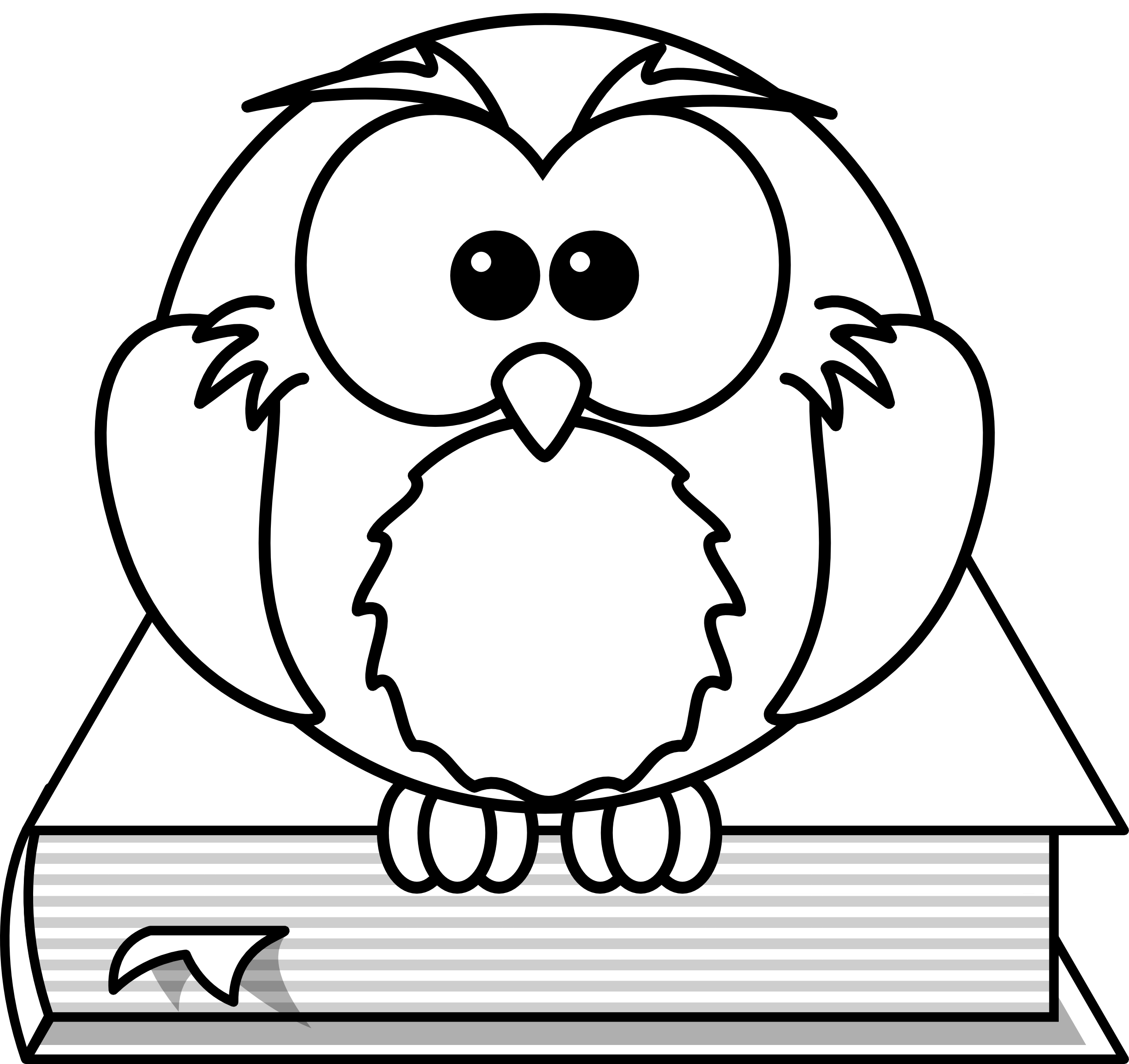 Pi drawing black and white. Free cartoon owls download