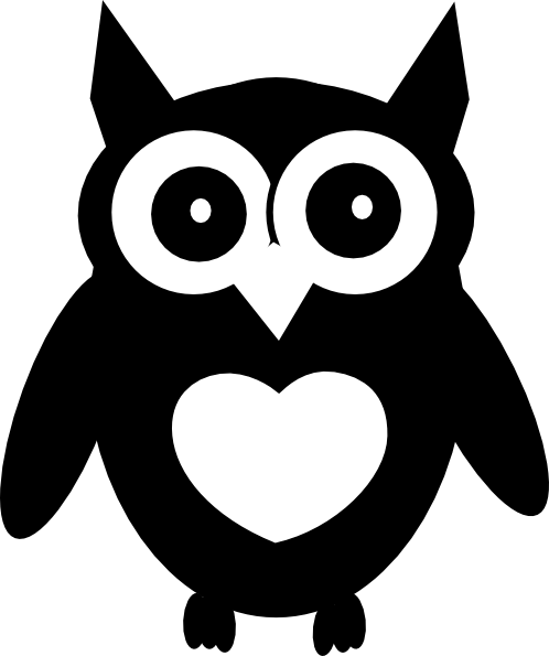 Owl clip art black and white. Free cliparts download on