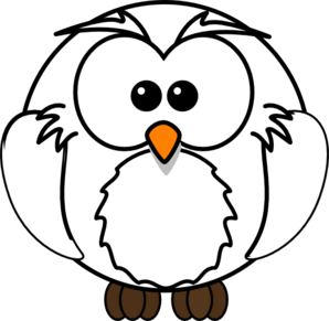 White clipart . Owl clip art snow owl picture library library