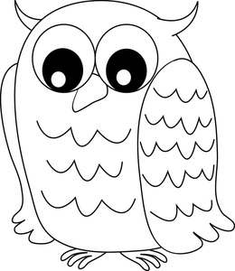 Animals clipart owl. Image drawing of a