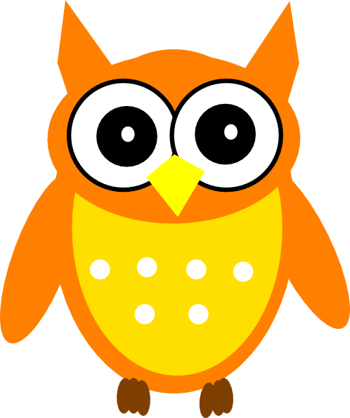 Owl clip art cartoon. Orange at clker com
