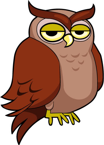Owl clip art cartoon. Animated clipart