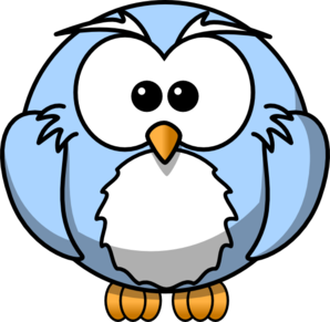 Owl clip art cartoon. Blue at clker com