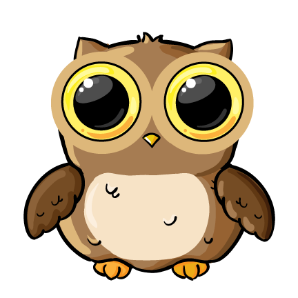 Owl clip art cartoon. Cute clipart panda free