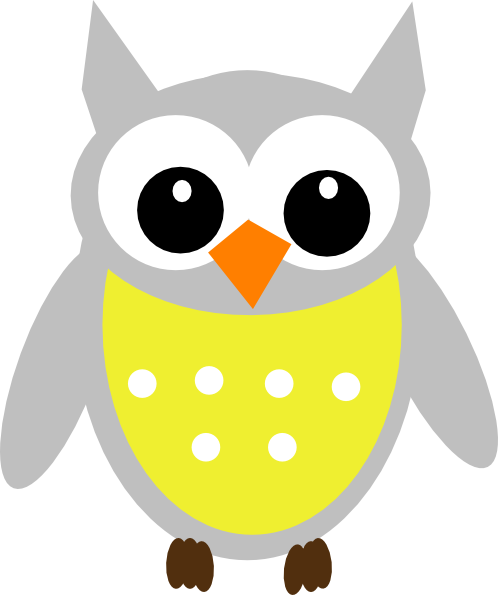 Owl clip art clear background. Yellow at clker com