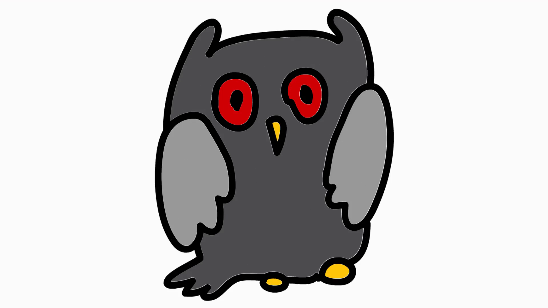 Owl clip art clear background. Animation with transparent motion