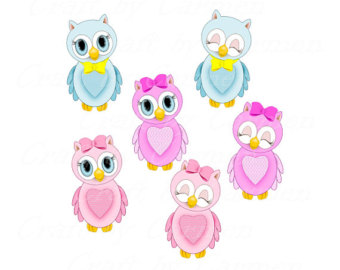 Cute owls artpink borders. Owl clip art clear background banner stock