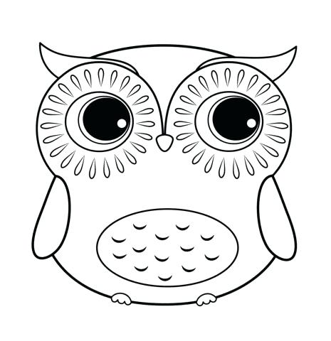 Owl clip art coloring page. Vdev info eyes pages