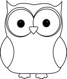 Owl clip art coloring page. Cute from owls category