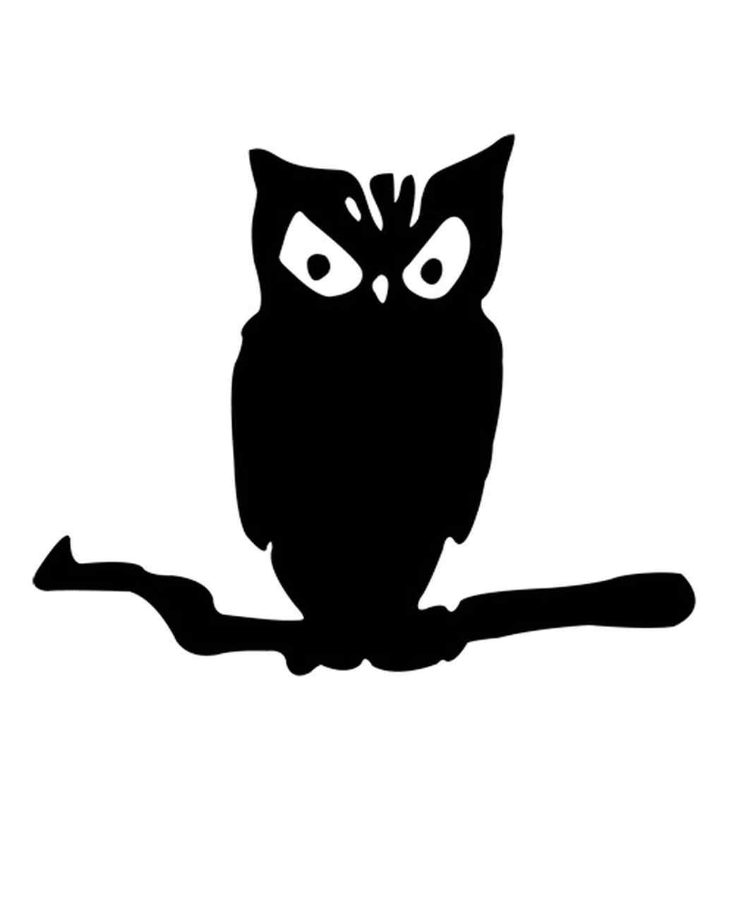 Owl clip art creepy. Halloween pumpkin carving patterns